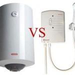 Электрические проточные и накопительные водонагреватели