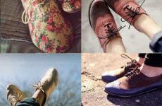 Обувь на низком ходу. Стильные образы