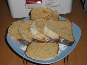 Пшенично-ржаной хлеб к чаю из хлебопечки