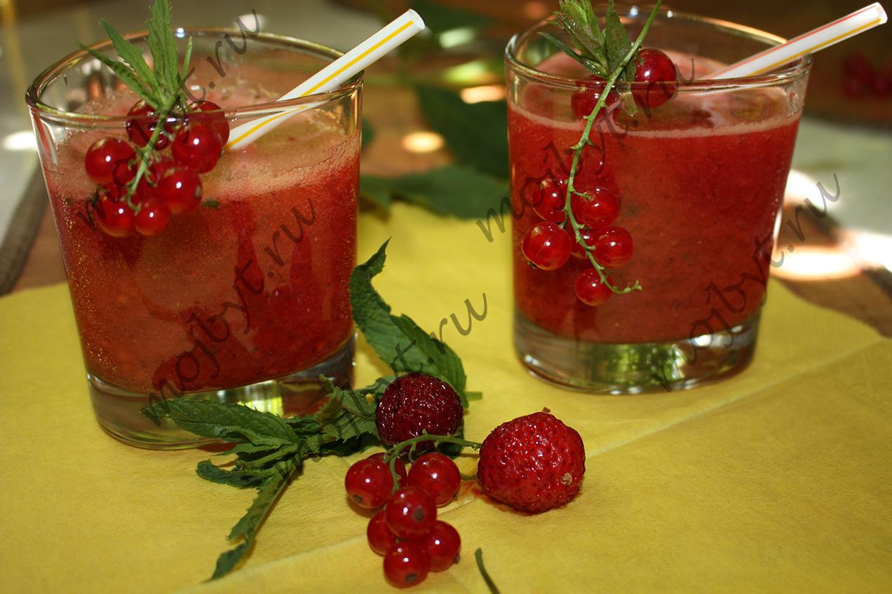 Рецепт безалкогольного мохито с клубникой в домашних условиях