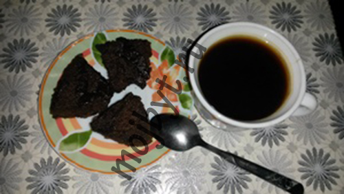 Брауни с кофе