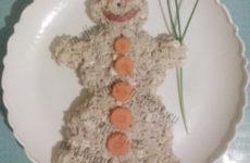 Салат «Cнеговик»
