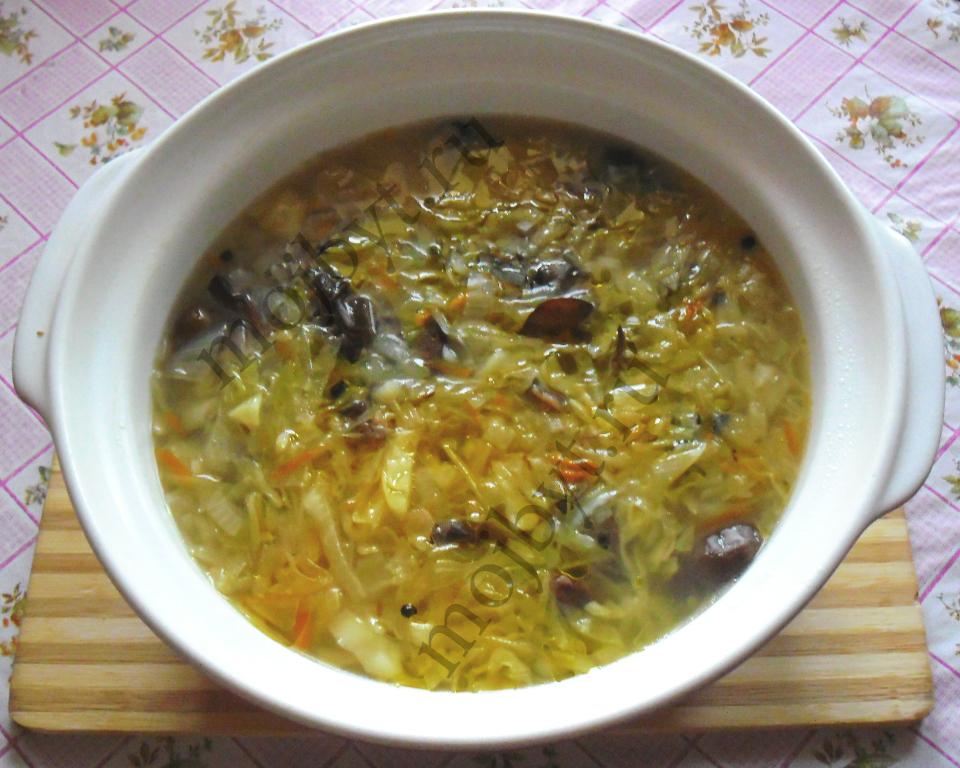 рецепт щи из чёрной капусты