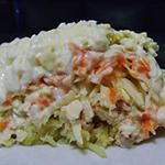 Салат с морковью и тунцом